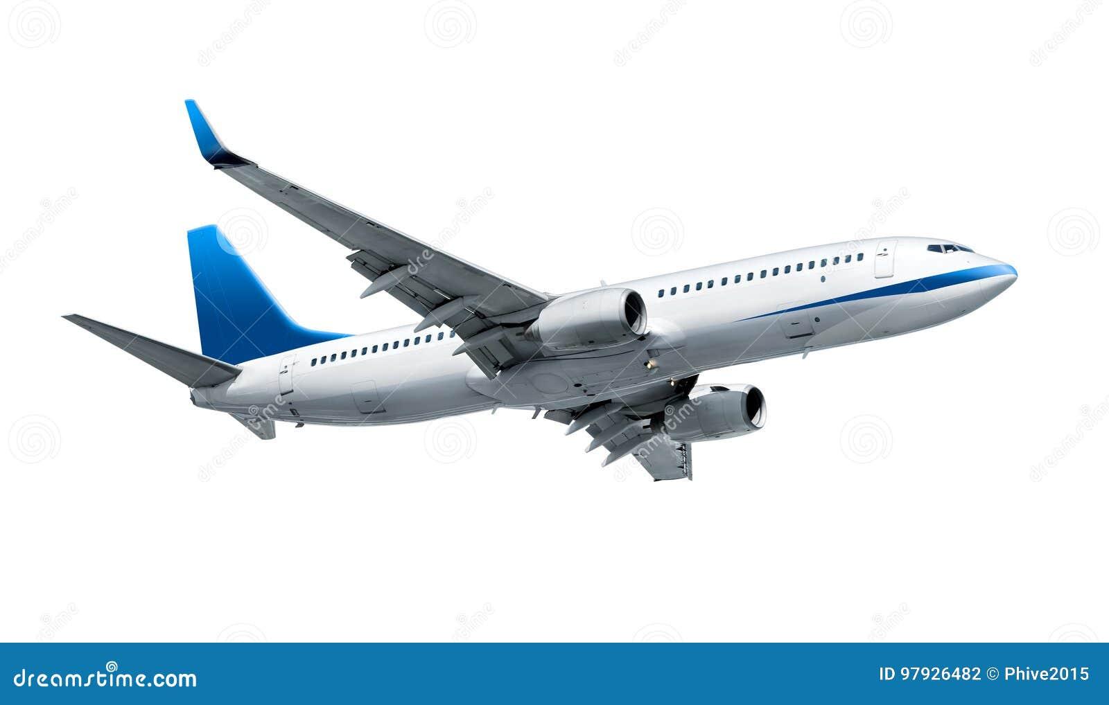 Aeroplano aislado en blanco