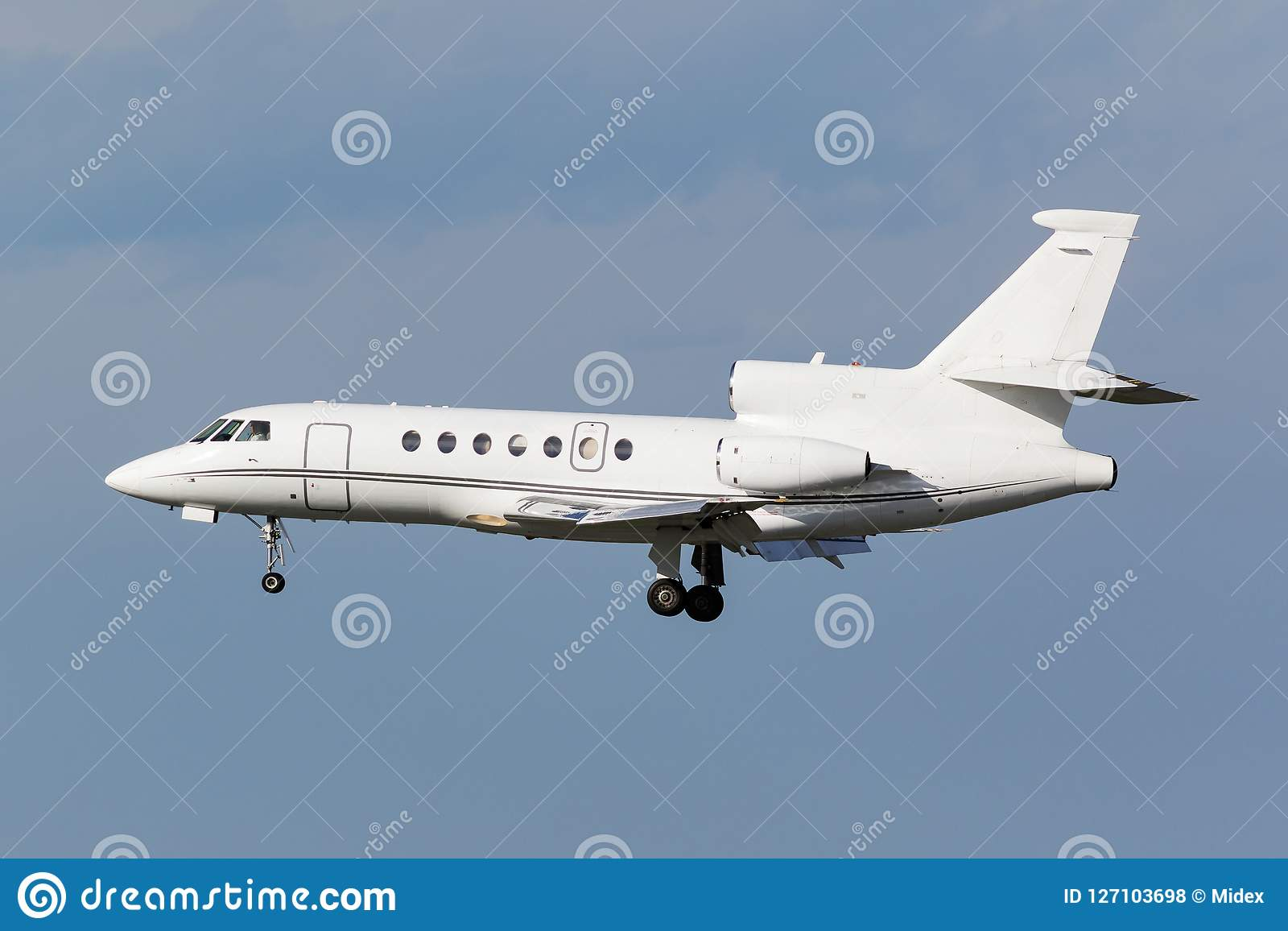 Aeroplano blanco del trijet del negocio