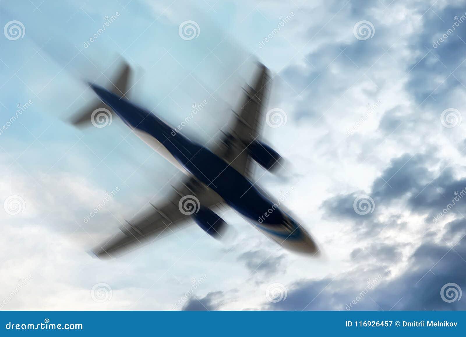Aeroplano con problemas: Concepto - movimiento borroso