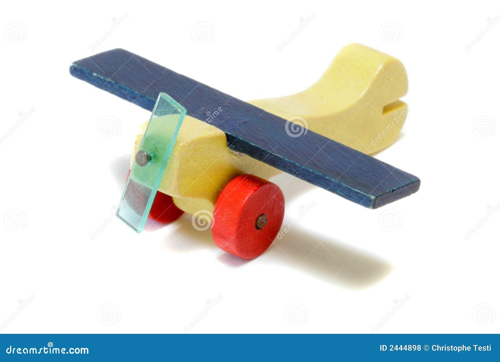 Aeroplano de madera miniatura