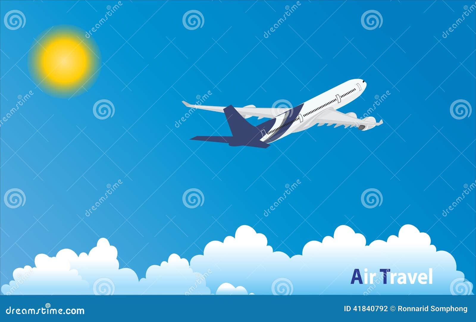 Aeroplano en la ubicación tropical del día de fiesta