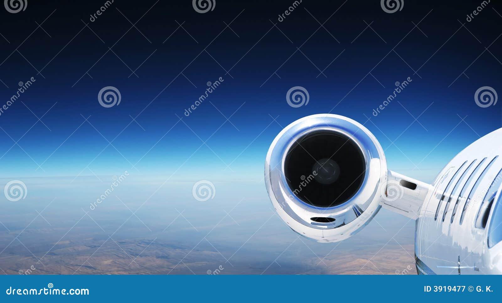 Aeroplano privado de lujo del jet