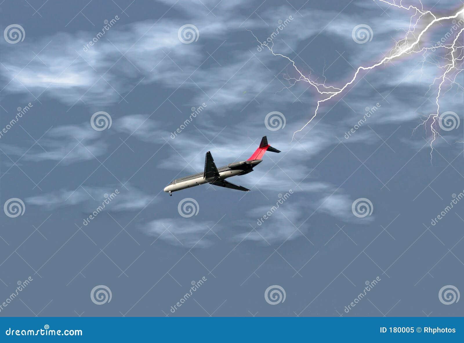Aeroplano in tempesta