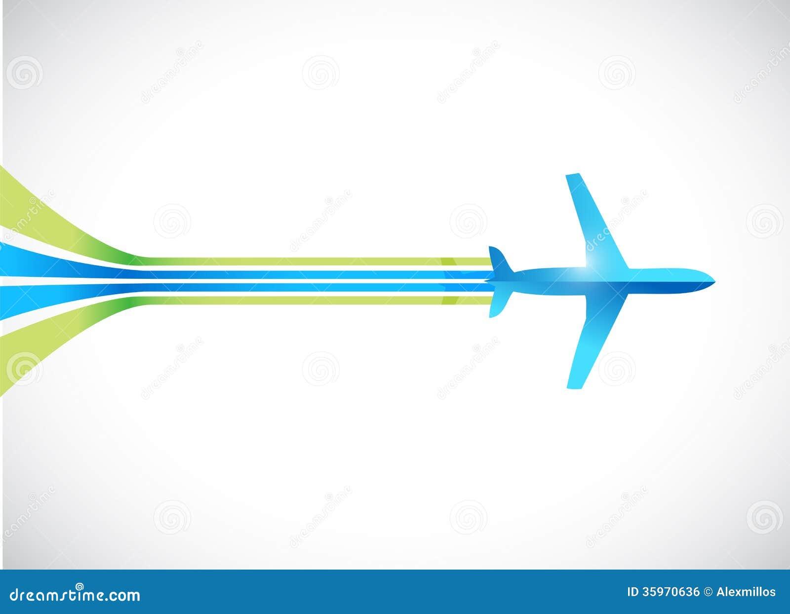 Aeroplano y líneas diseño del ejemplo