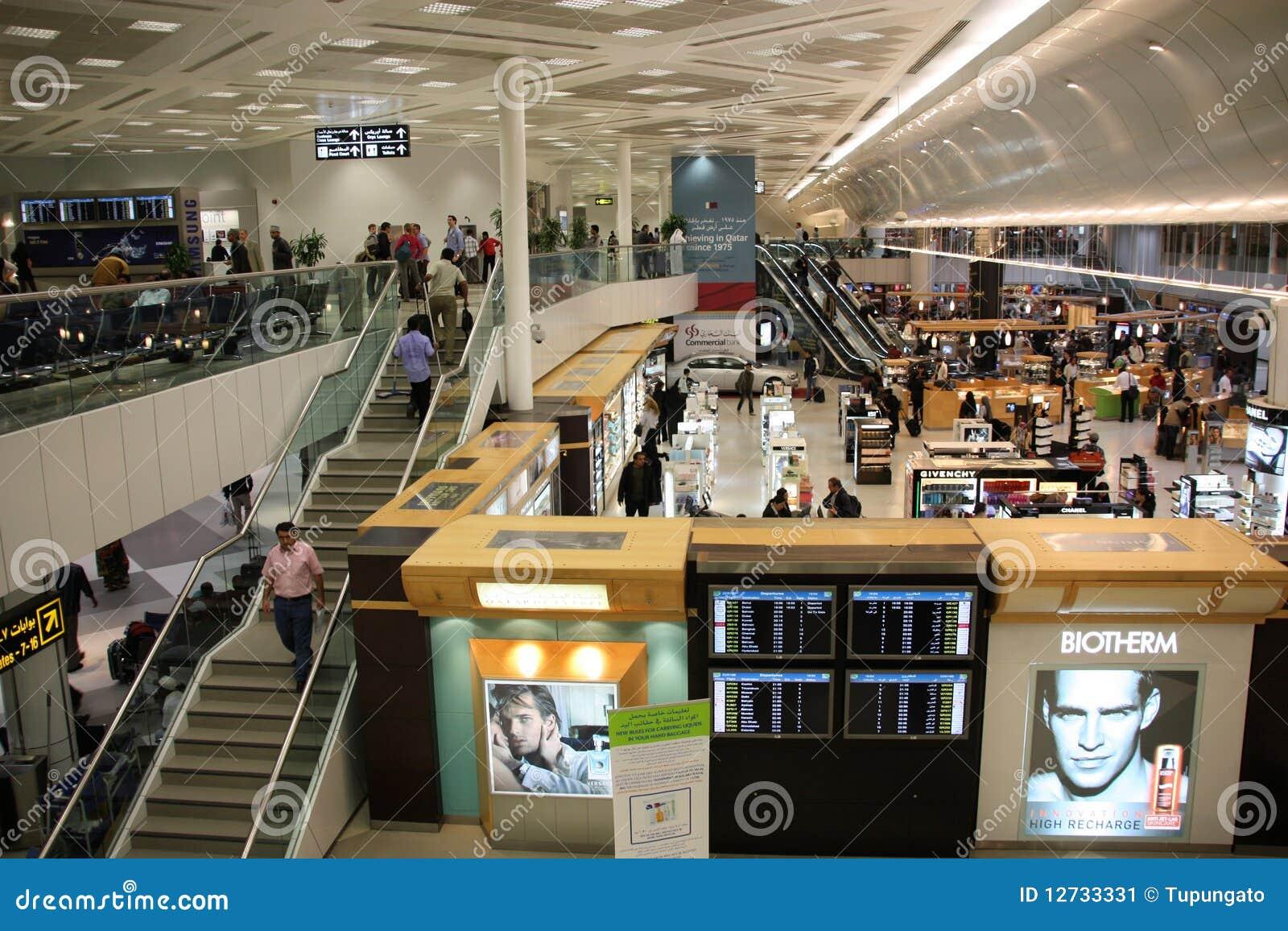 Aeroporto Del Qatar : Aeroporto di doha fotografia editoriale immagine