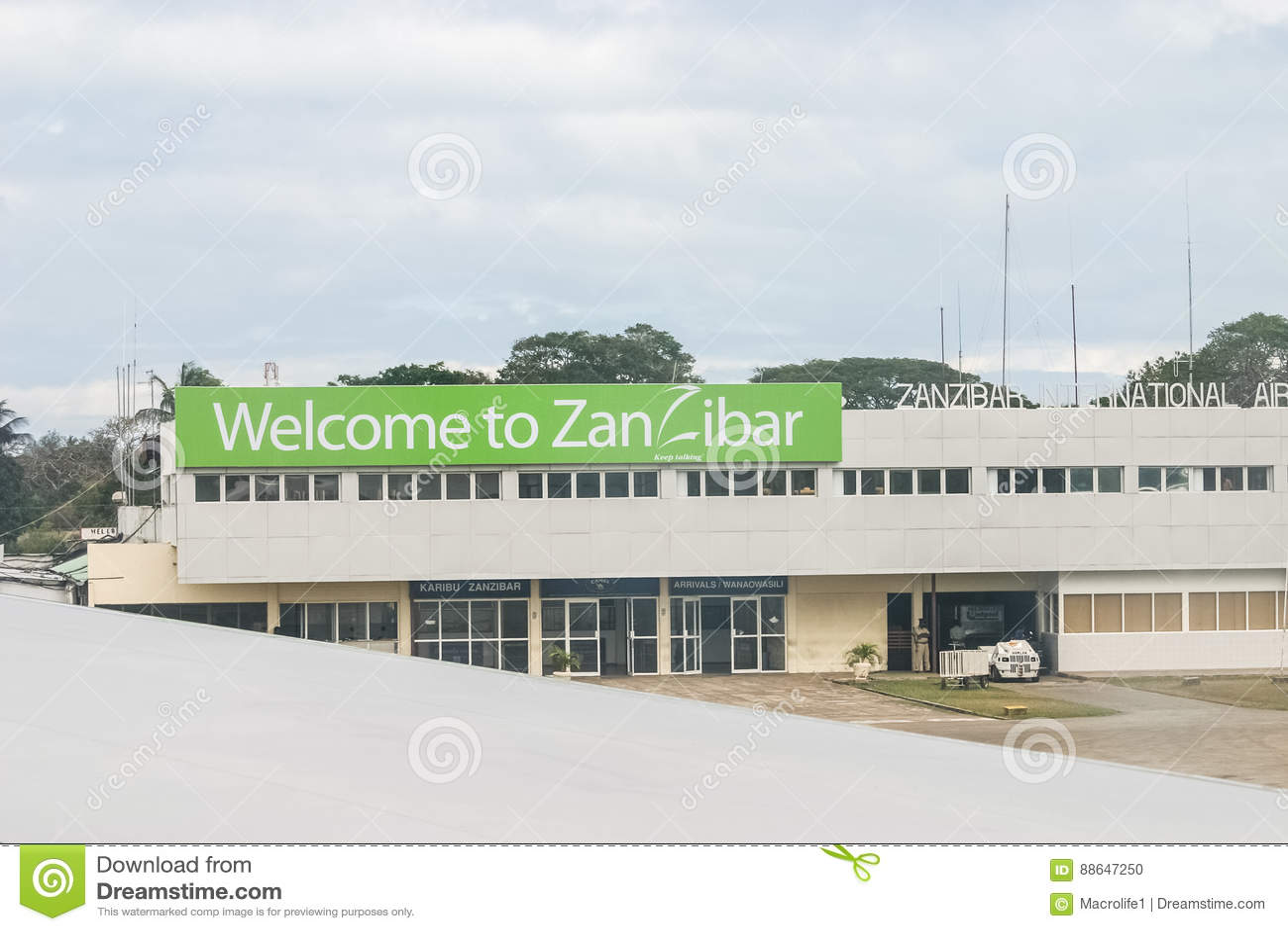 Aeroporto Zanzibar Partenze : Aeroporto di zanzibar immagine editoriale