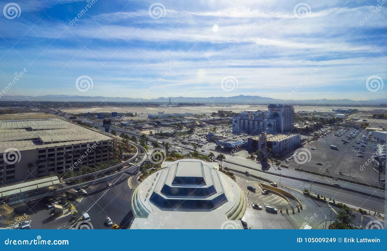 Aeroporto Las Vegas de McCarran - vista aérea - LAS VEGAS - NEVADA - 12 de outubro de 2017