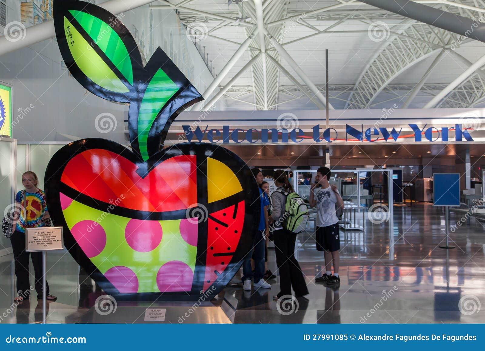 Aeroporto New York John F Kennedy : Aeroporto new york city de jfk imagem editorial