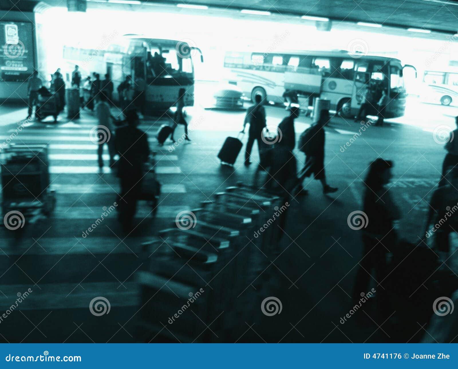 Aeroporto ocupado exterior de Beijing