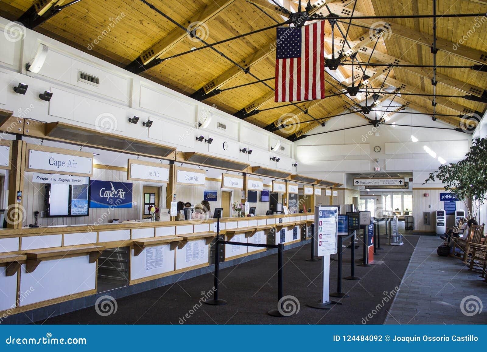 Aeropuerto del viñedo del ` s de Martha, Massachusetts