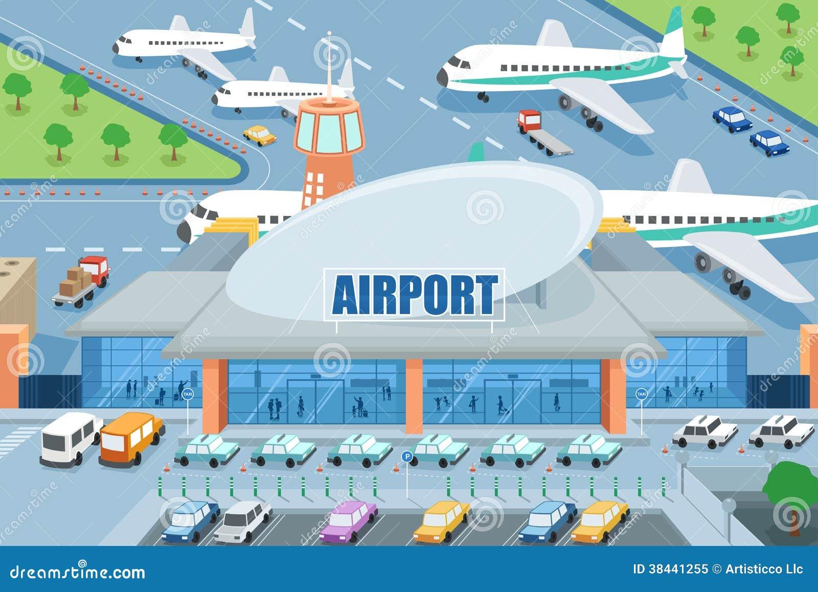 Aeropuerto en el exterior