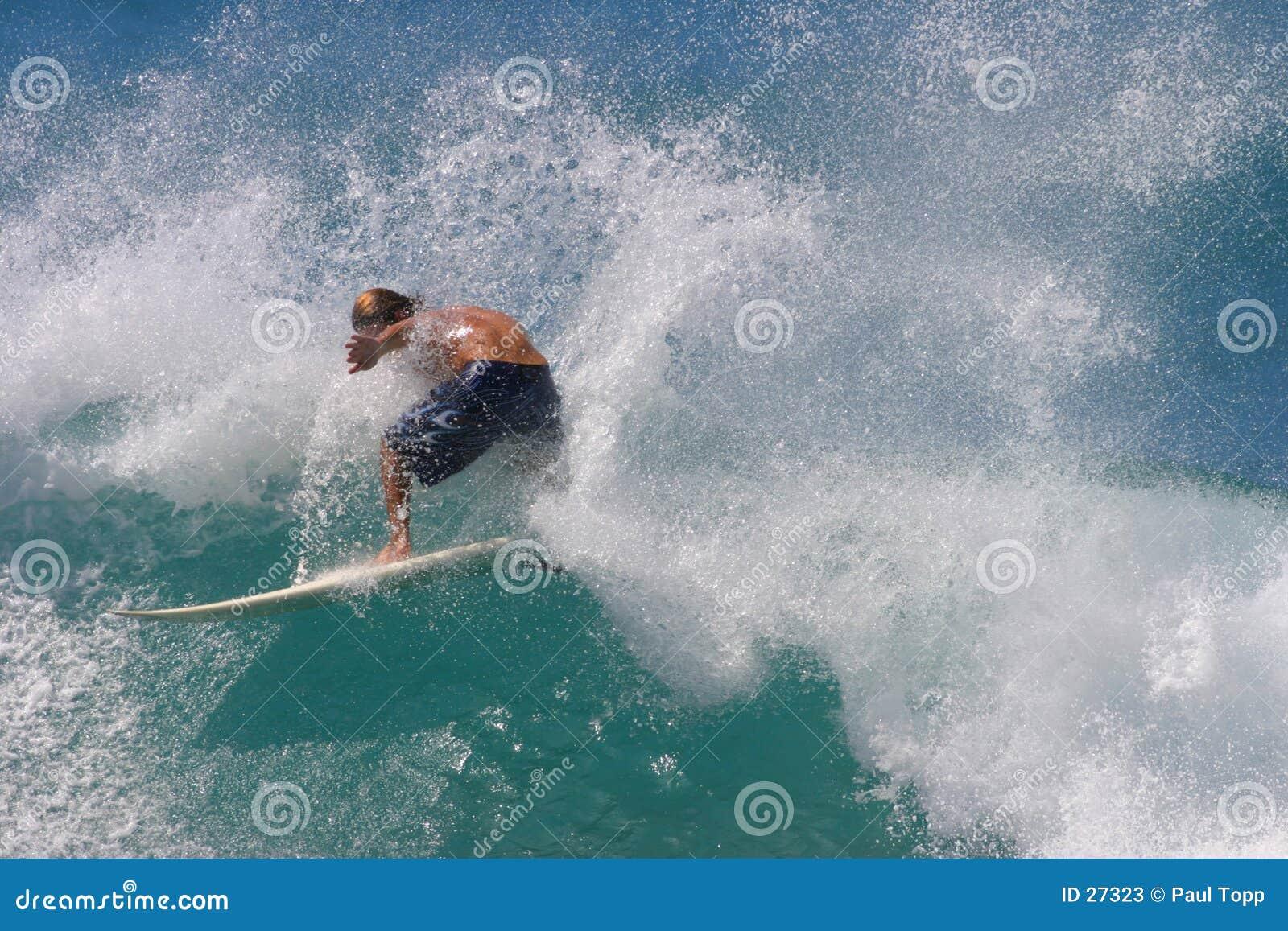 Download Aerosol De La Persona Que Practica Surf Imagen de archivo - Imagen de desafío, taking: 27323