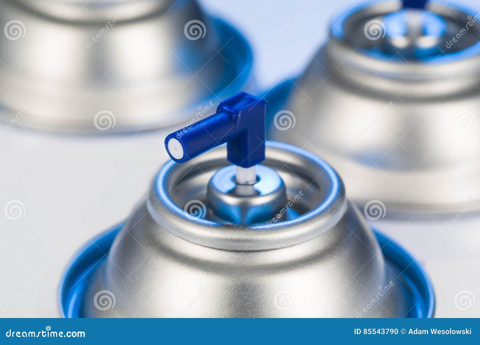 Aerosolowej kiści puszek nozzle zbliżenie Lotniczego freshener produktu pracowniana fotografia