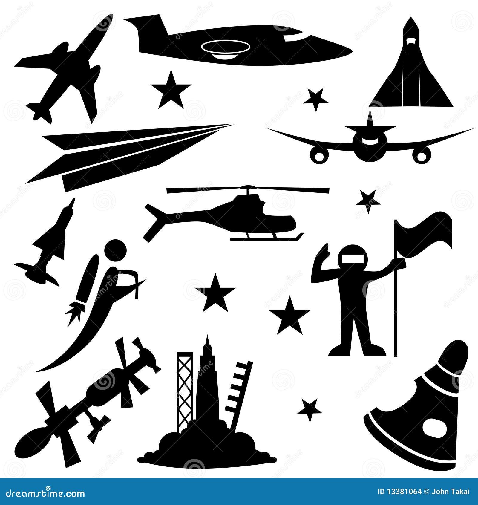 Aerospace Icon Set Stock Images Image 13381064