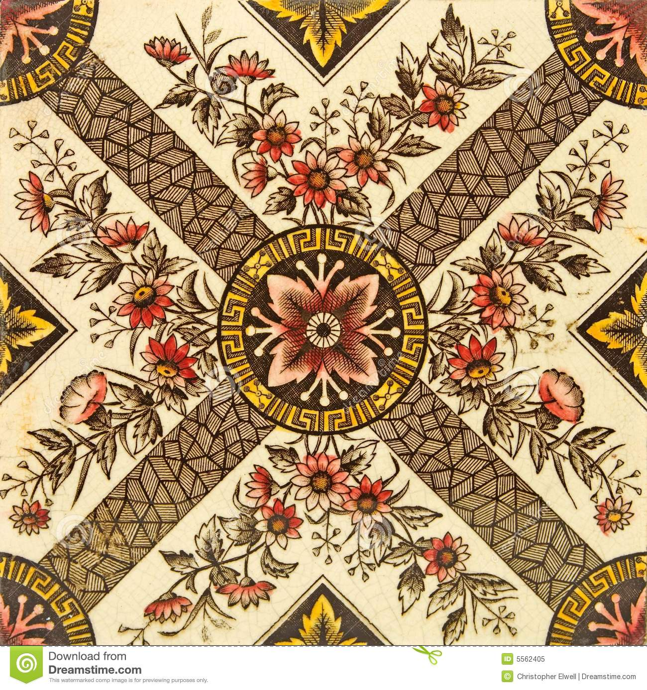 Aesthetic Design Tile Stock Image Image Of Pattern Sepia