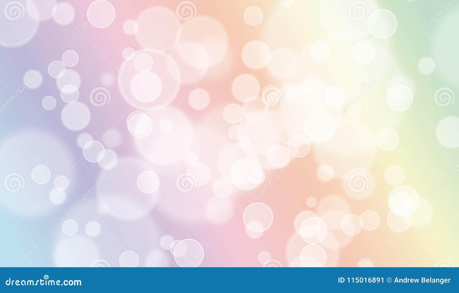 Aesthetic Pastel Bokeh Background Design Stock Illustration