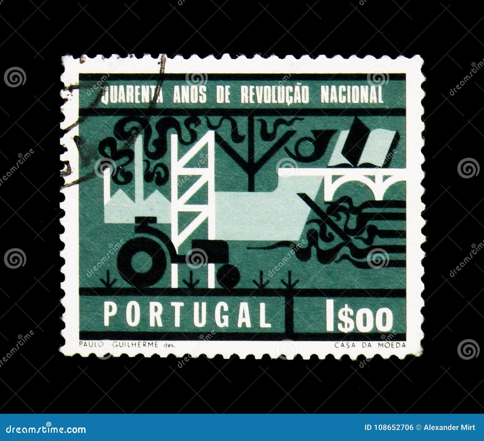 Afbeelding Van Ontwikkeling Van Portugal 40ste Verjaardag Van Th