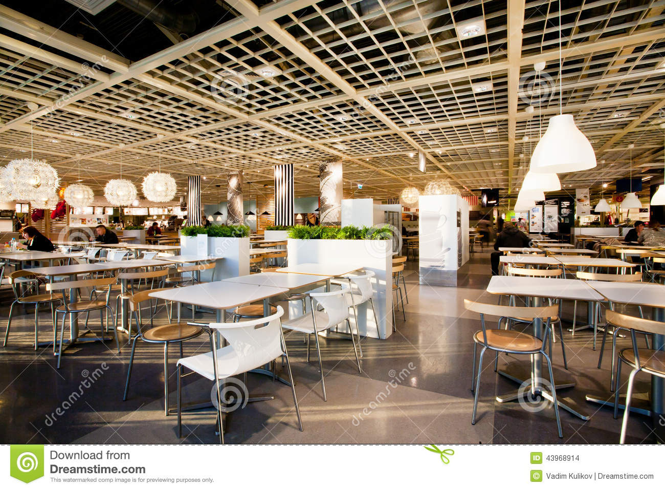 Ceiling inside shopping mall stock image cartoondealer for Amenagement restaurant interieur