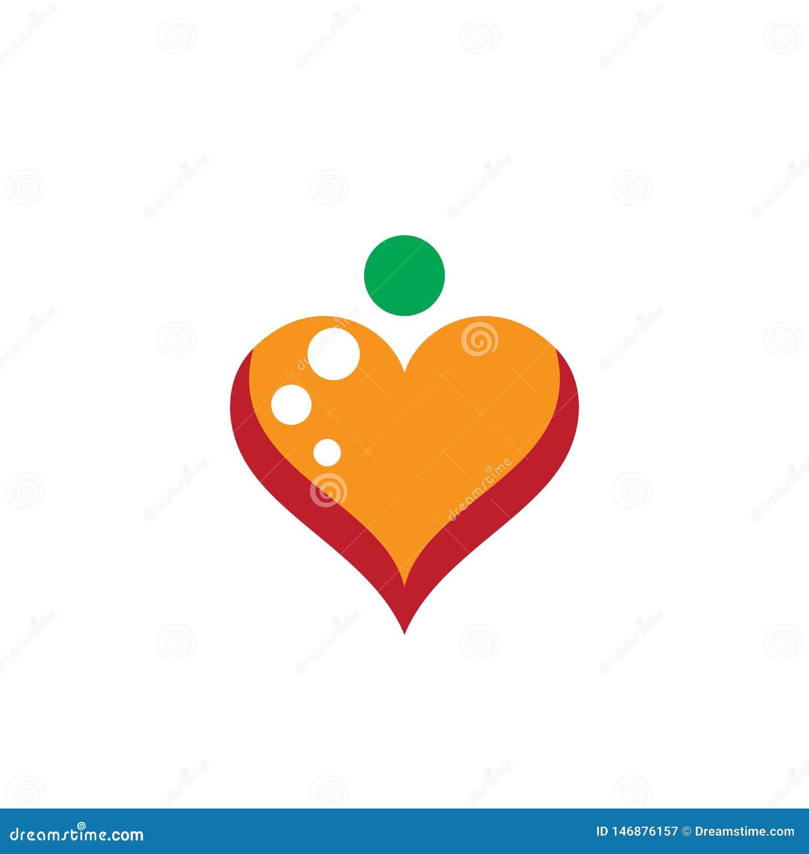 Affär för förälskelselogovektor