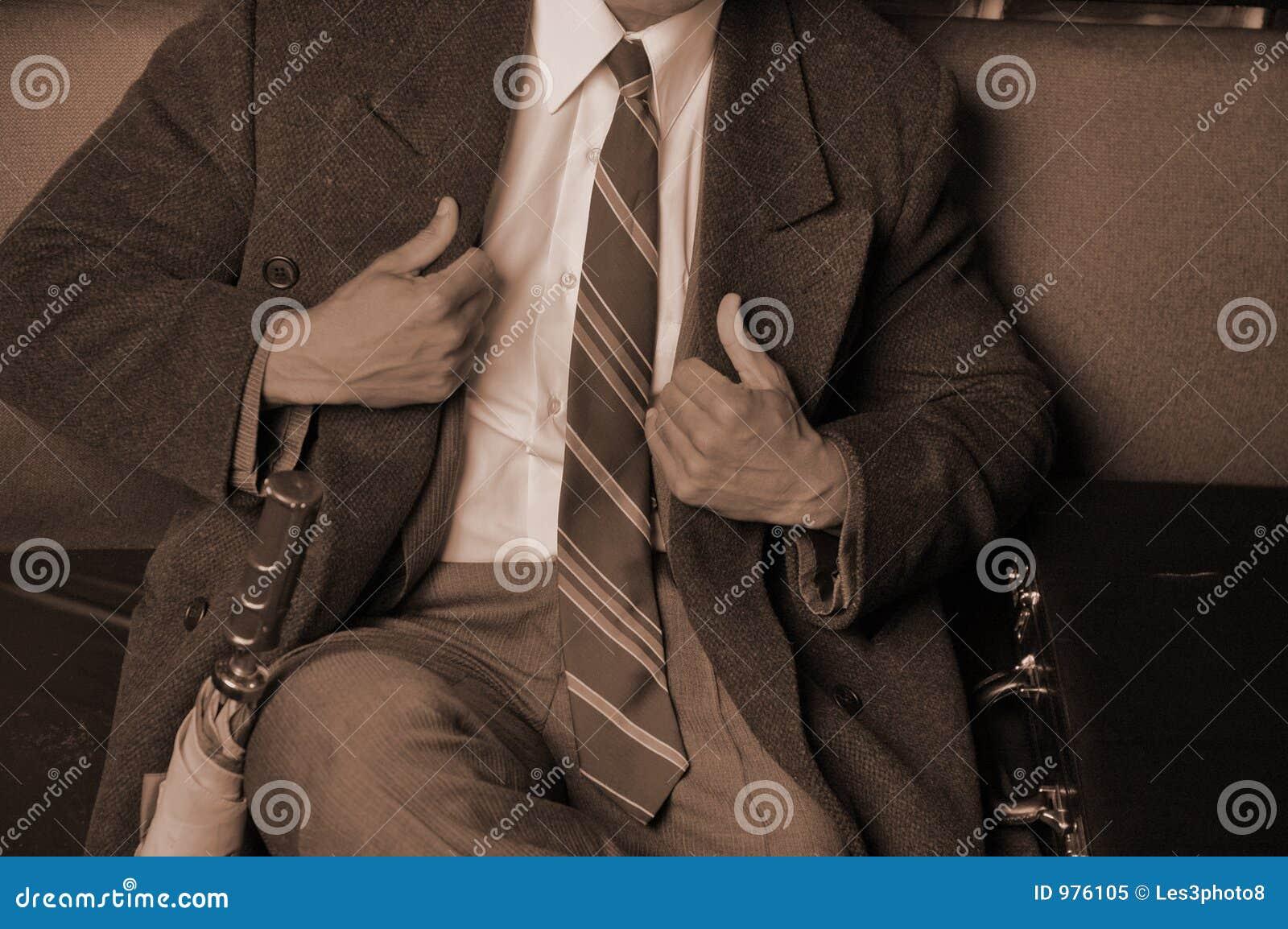 Affär klädd mansharp