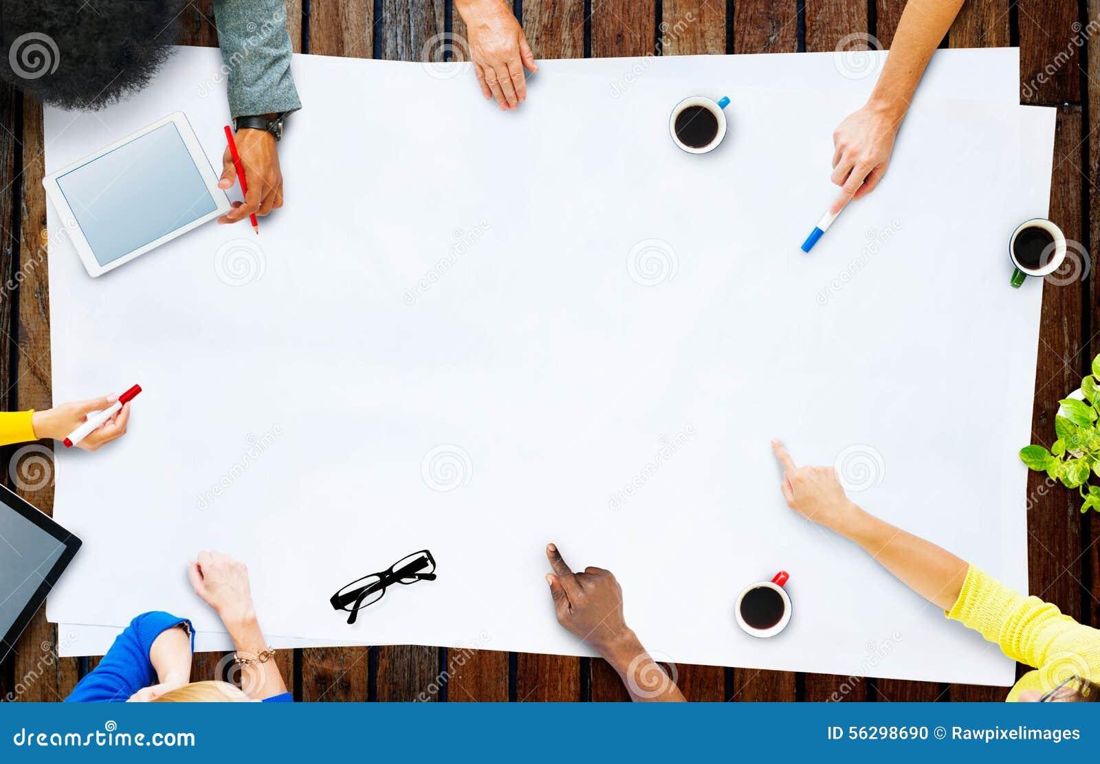 Affär Team Planning Project Meeting Concept