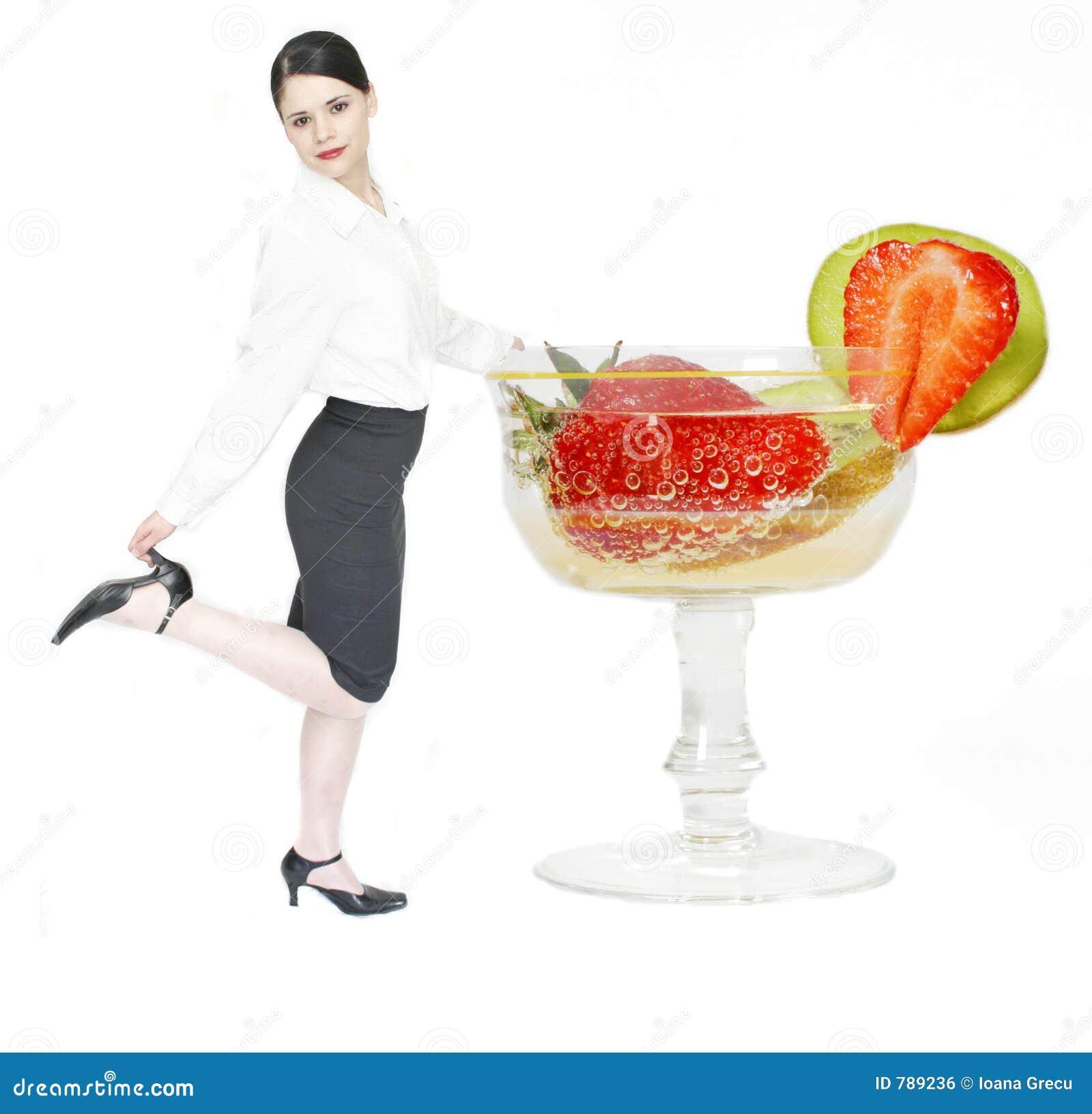 Affärscoctailkvinna