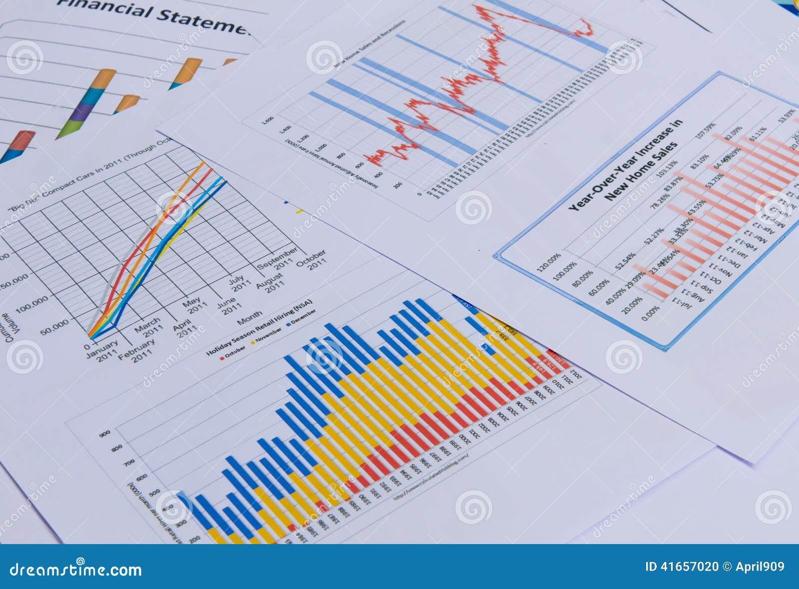 Affärsdiagram och grafer