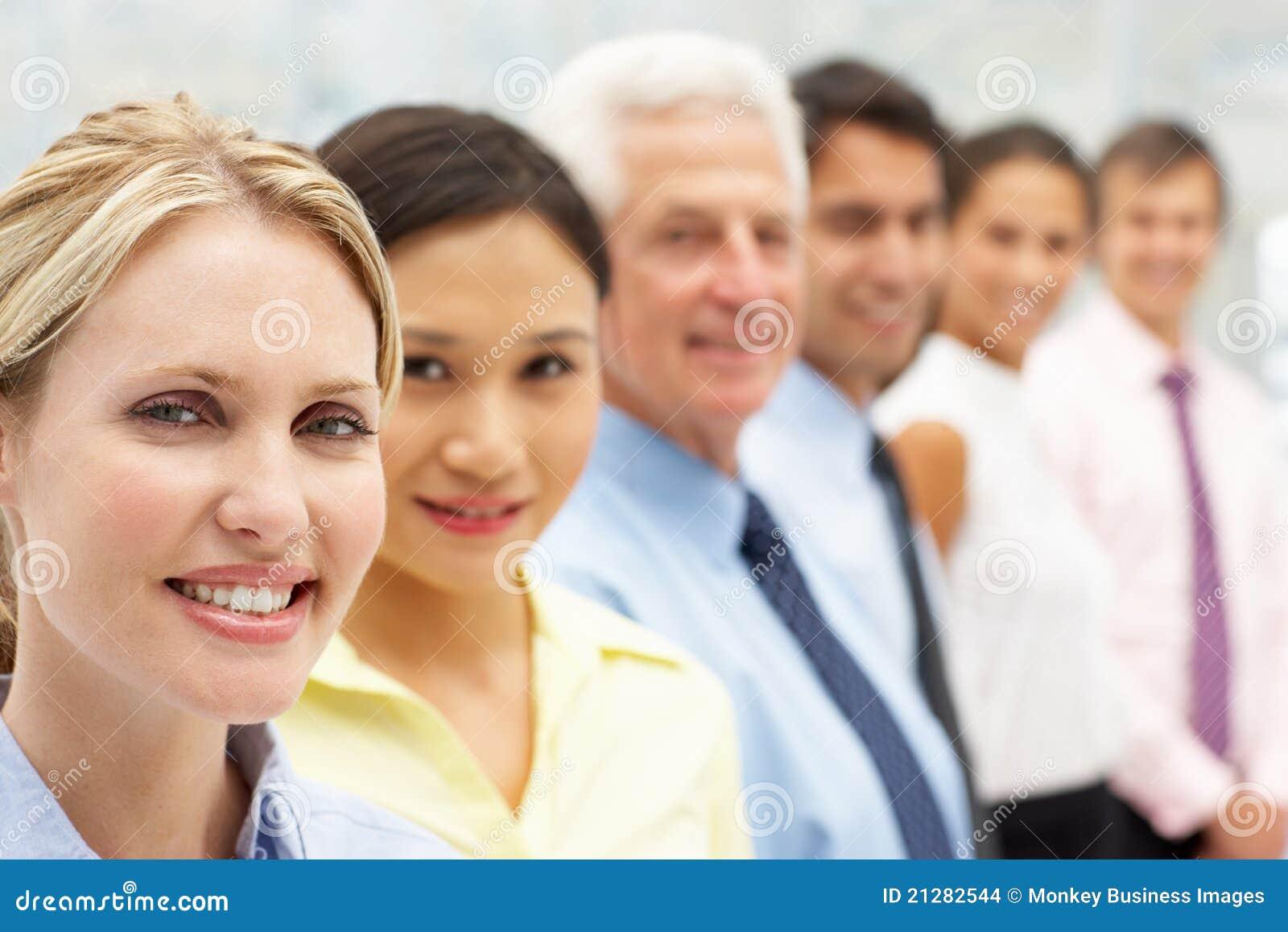 Affärsfolk för blandad grupp