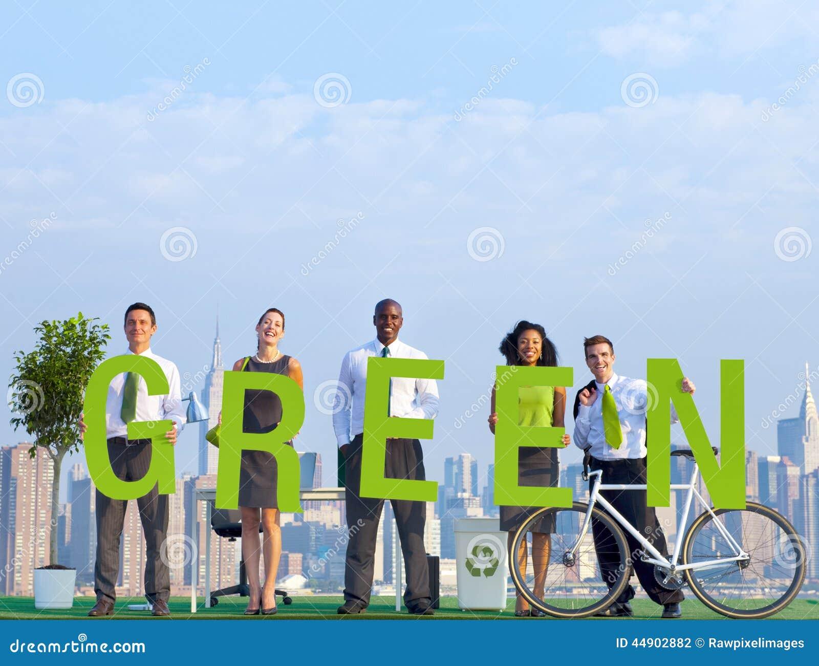 Affärsfolk i en plats och gräsplanbegrepp