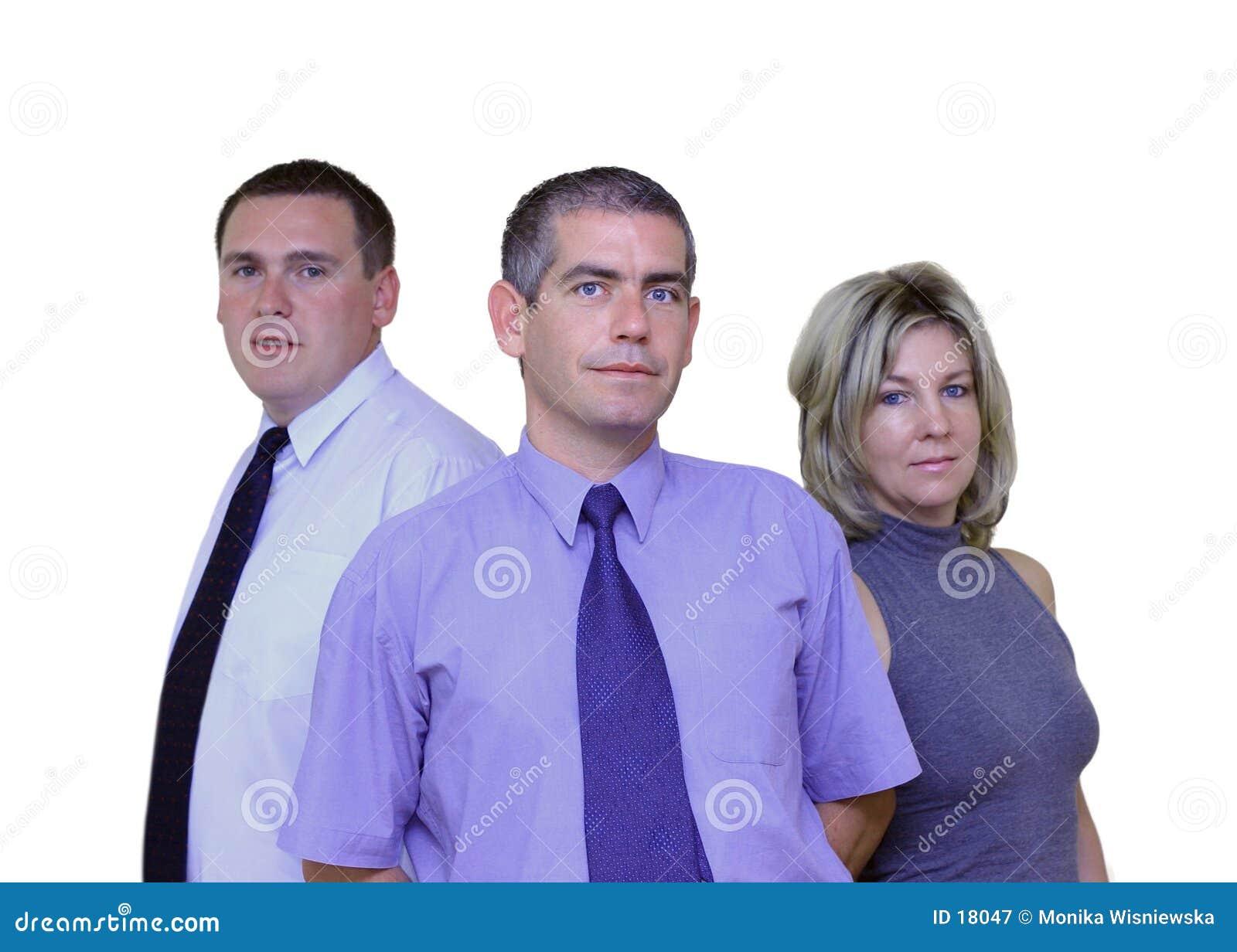Affärsfolk tillsammans