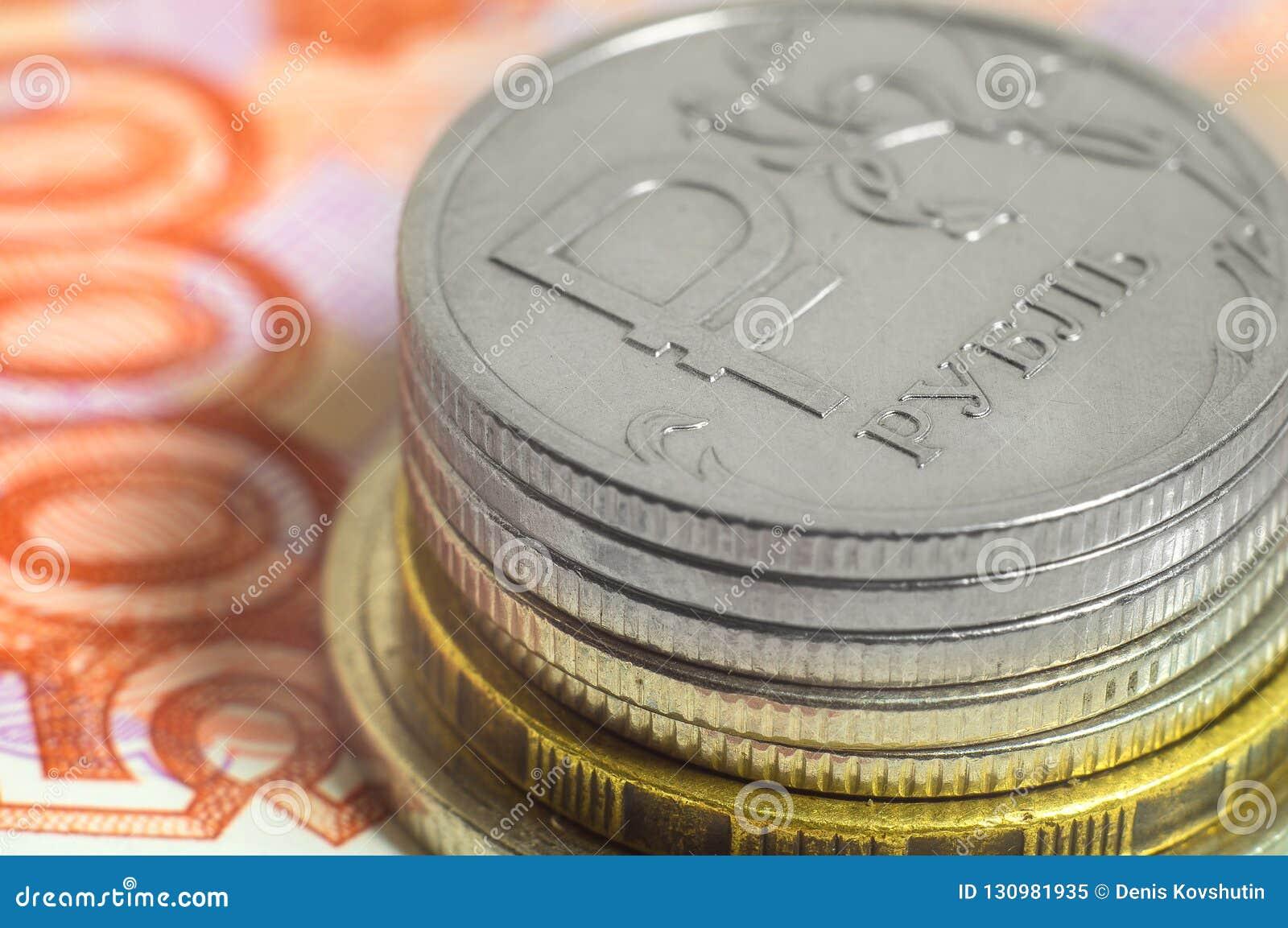 Affärsidé av rikt, rikedom, vinst och finans Närbild för ryska rubel för bakgrund mycket pengar