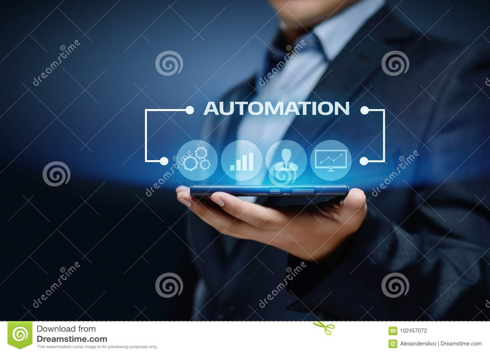Affärsidé för system för process för automationprogramvaruteknologi
