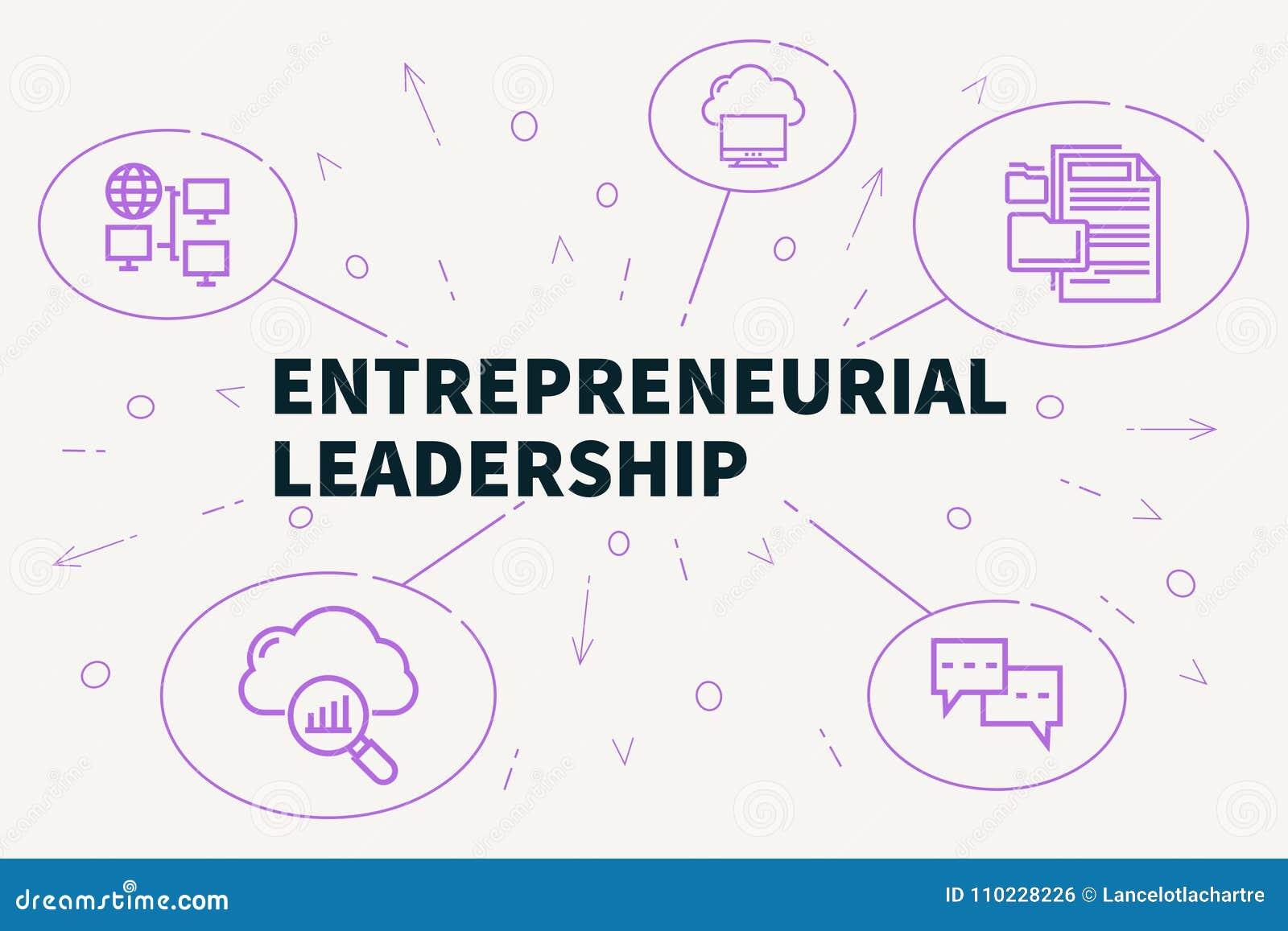 Affärsillustration som visar begreppet av företagsamt ledarskap