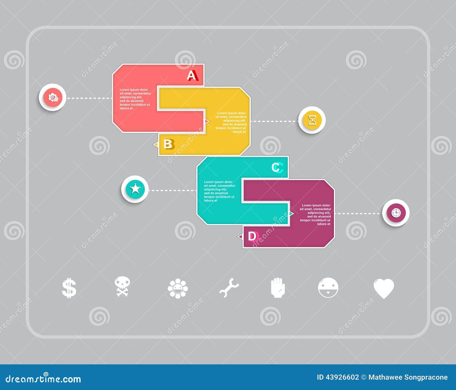 AffärsInfographic design med form och symbolen