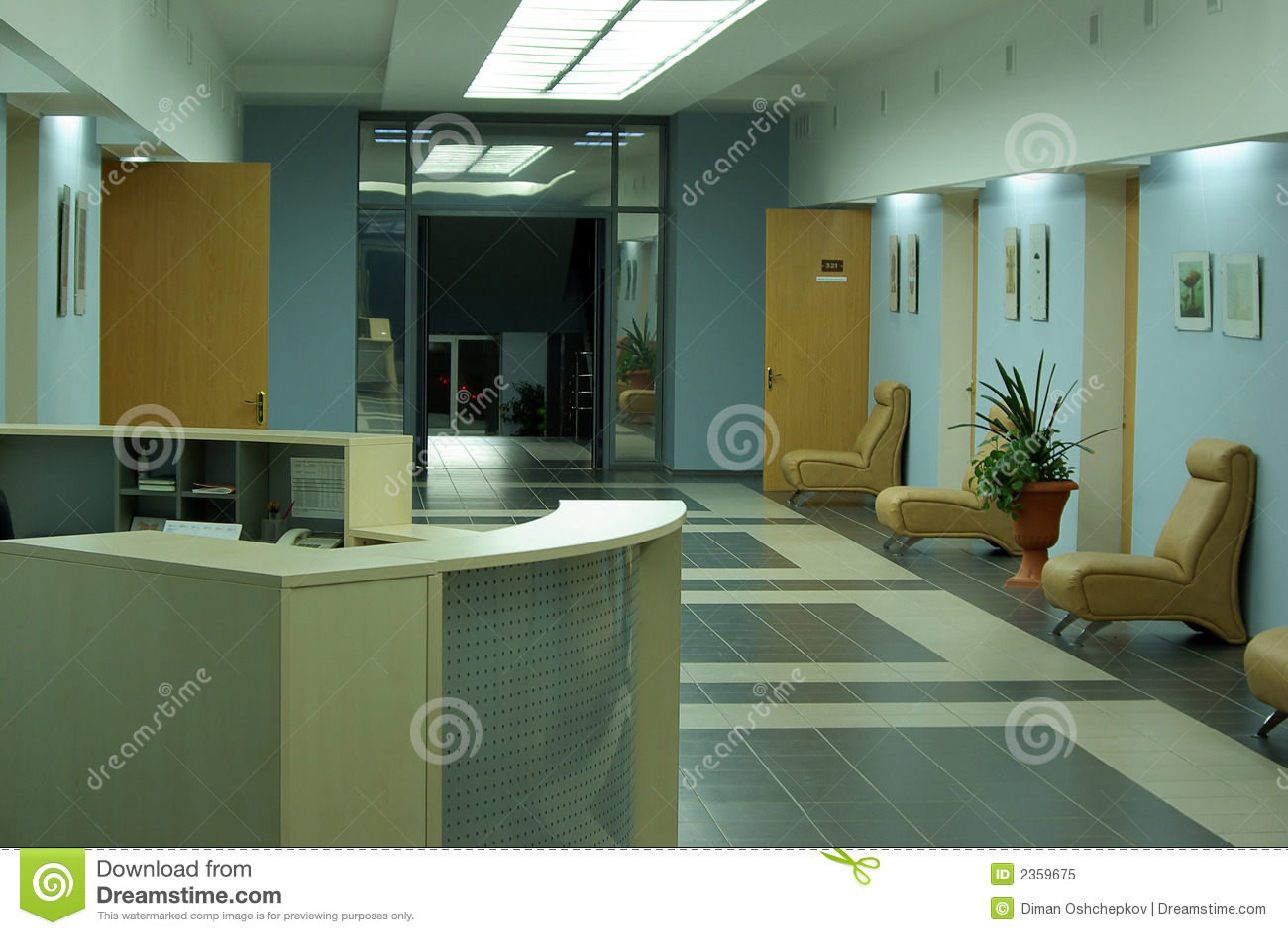 Affärskorridorinterior