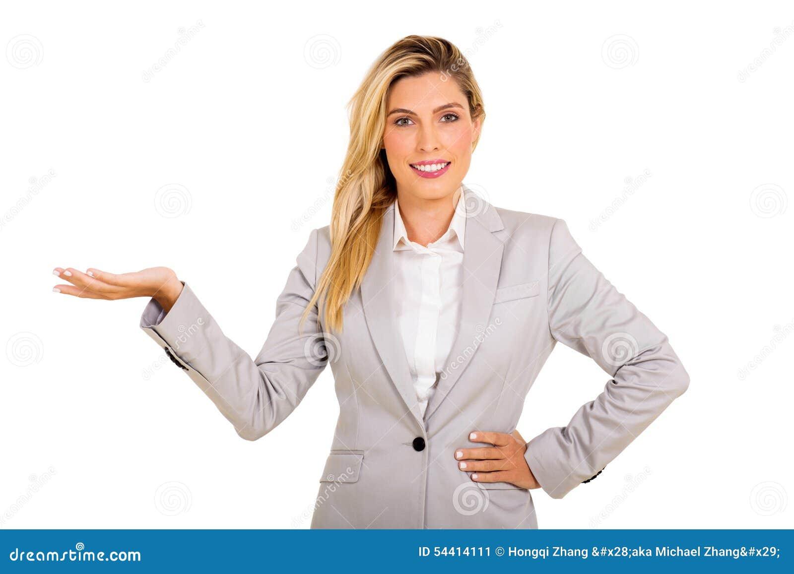 Affärskvinna Presenting
