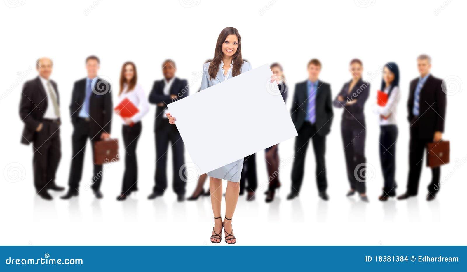 Affärskvinnaholdingstanding