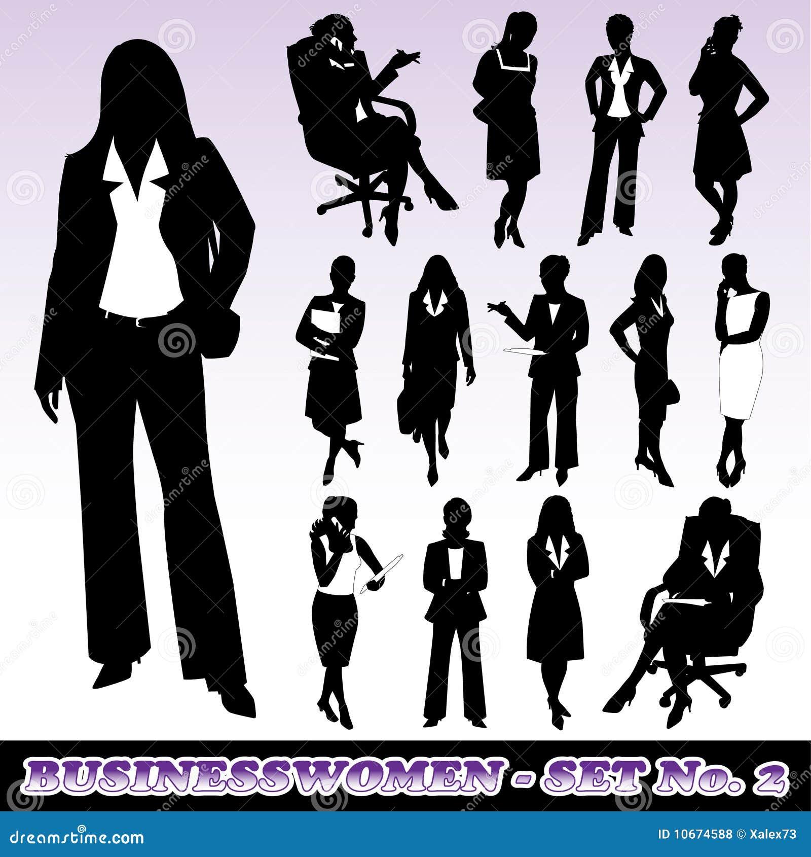 Affärskvinnasilhouettes