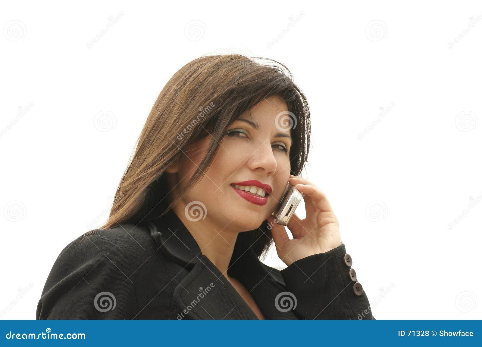 Affärskvinnatelefon