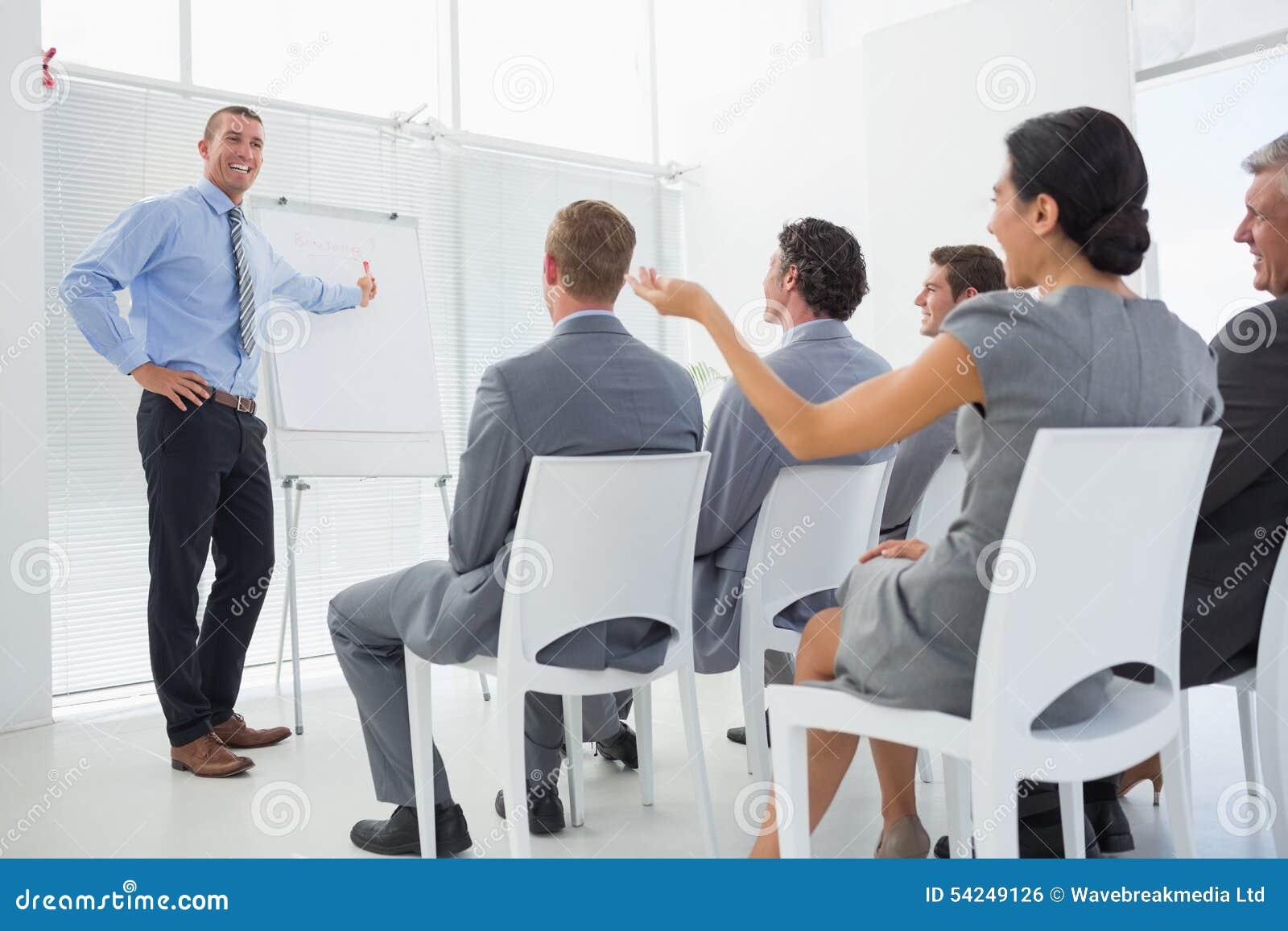 Affärslag under konferens