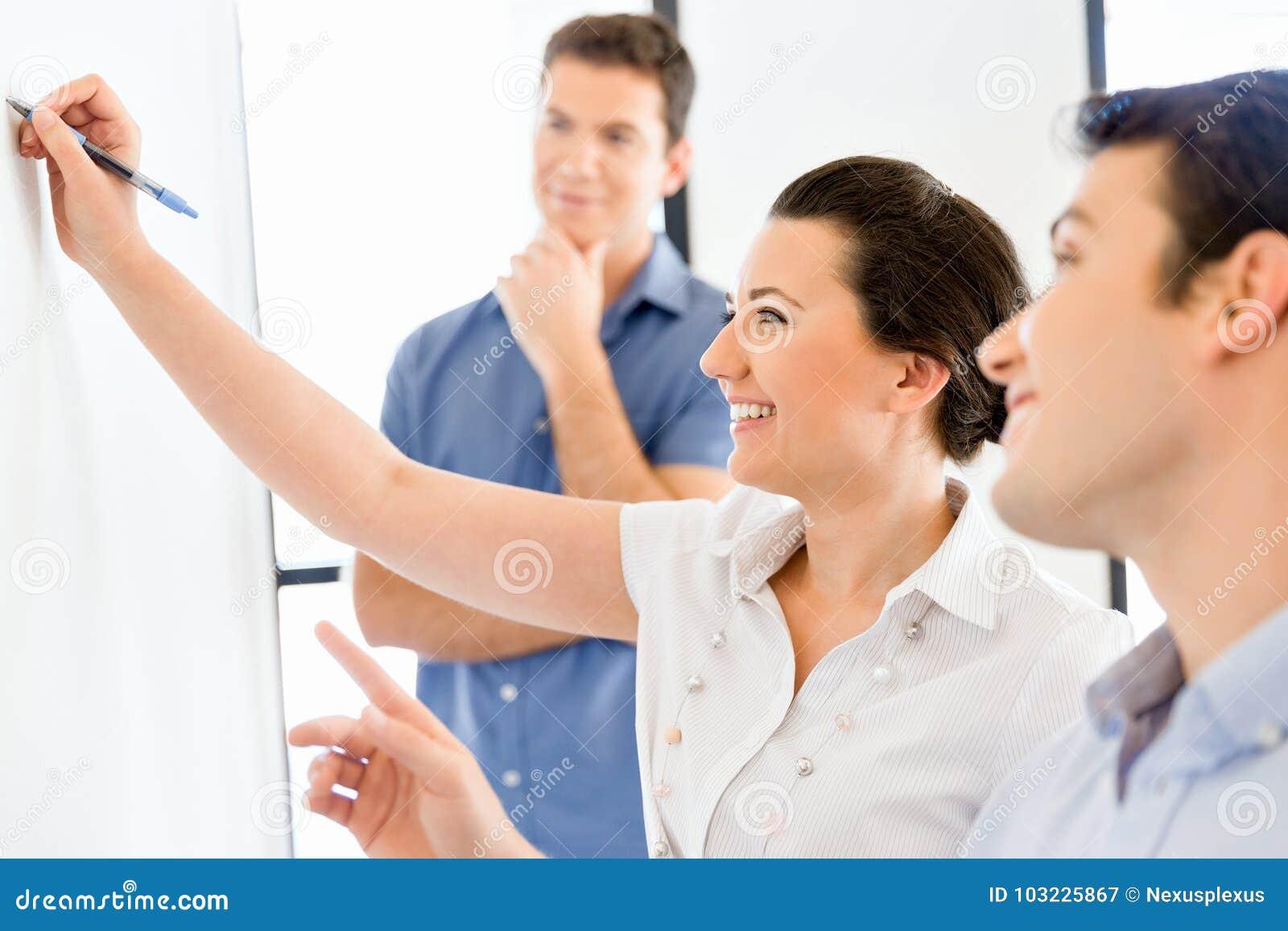 Affärsmöte med presentation