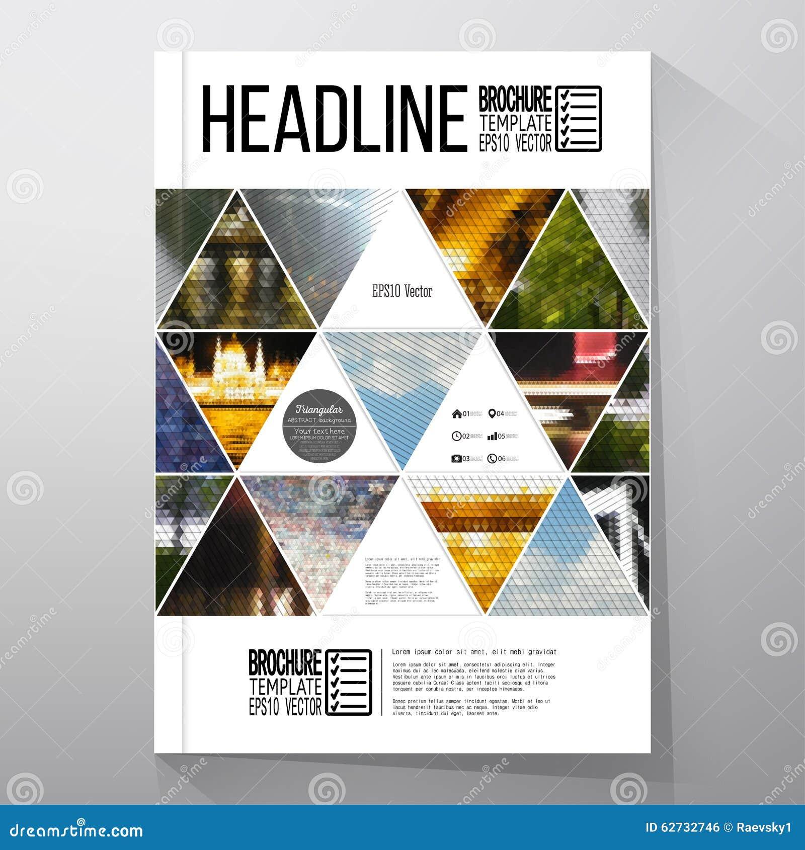 Affärsmallar för broschyr, reklamblad eller häfte