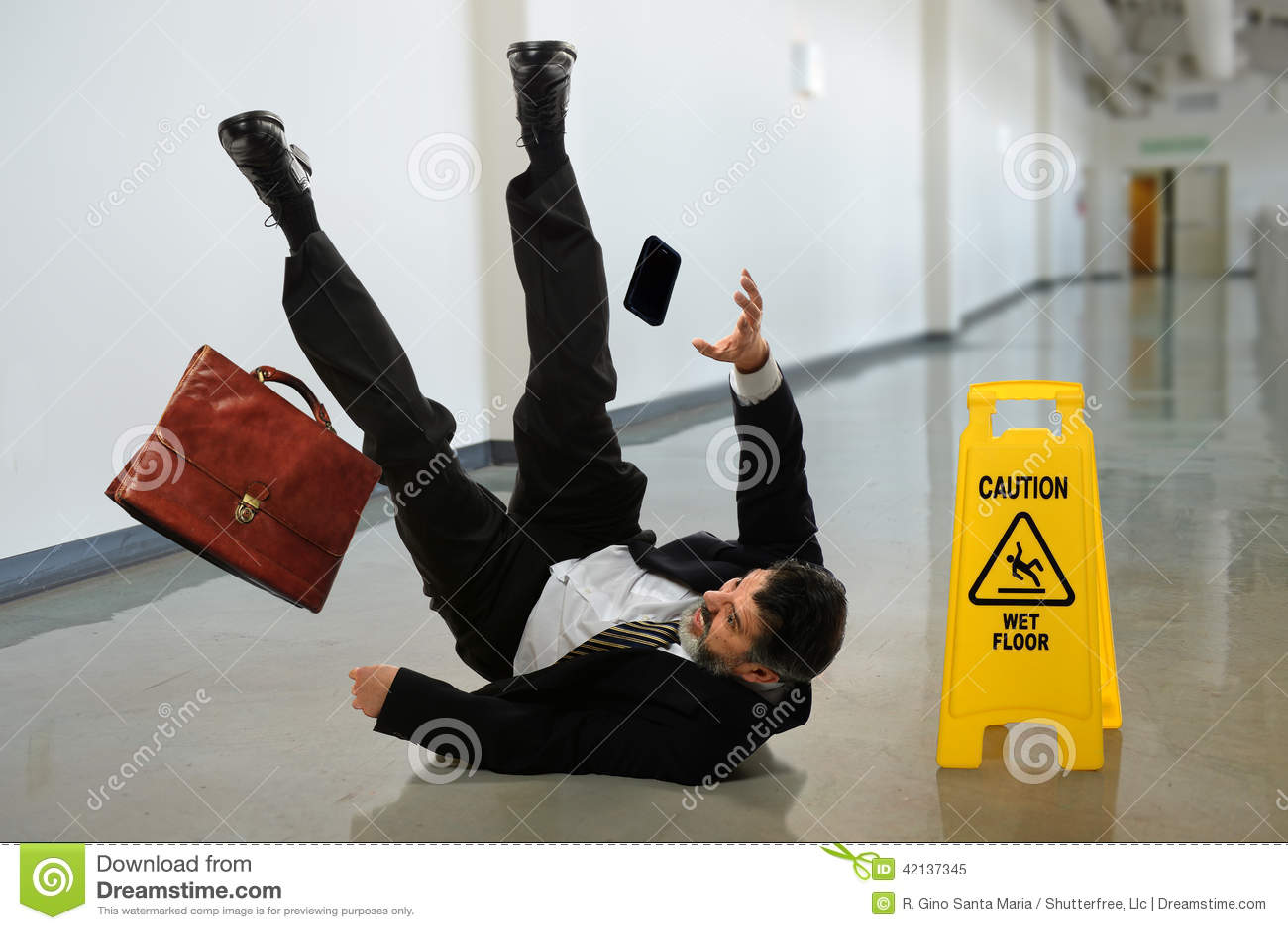 Affärsman Falling