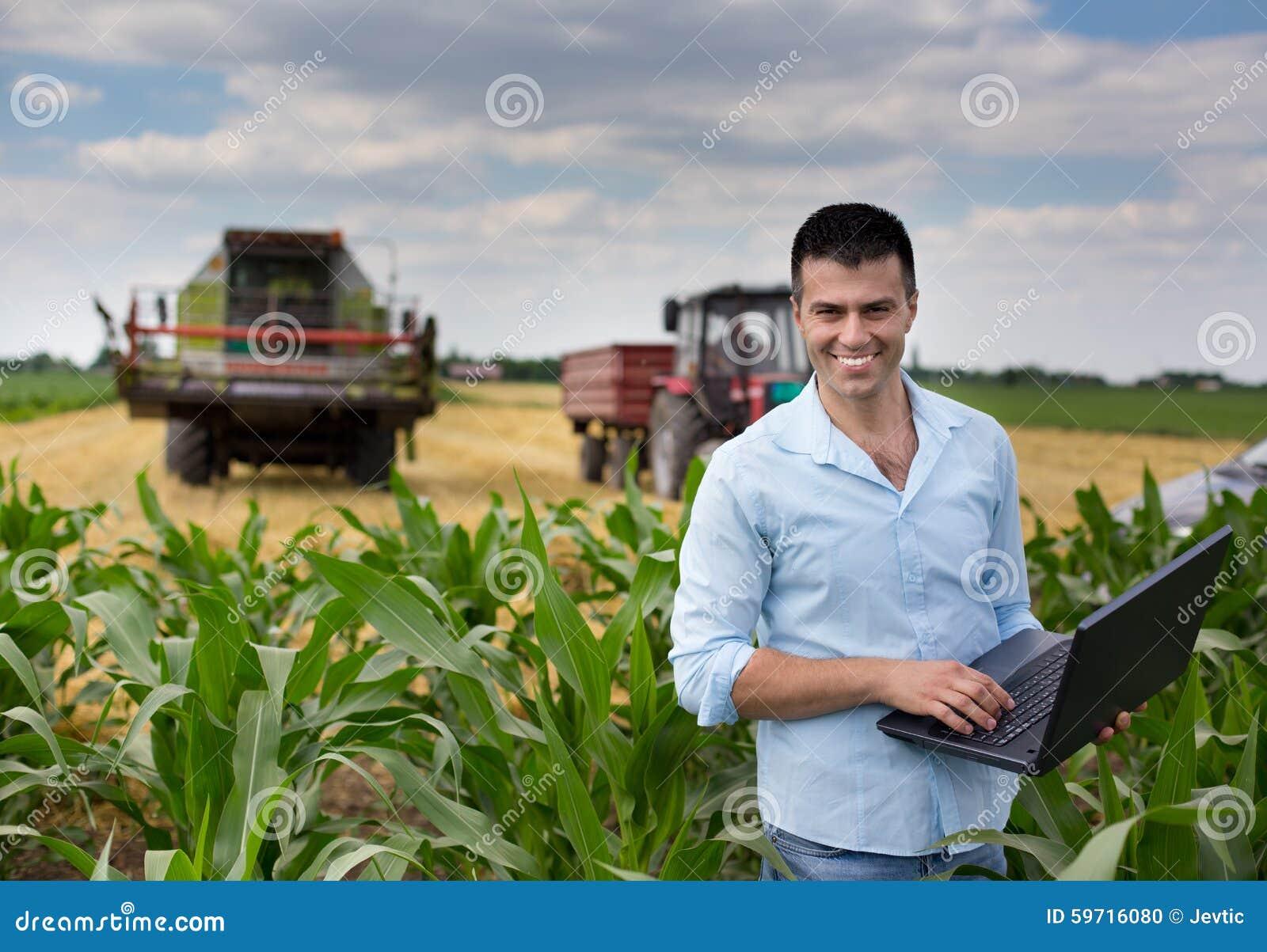 Affärsman i fältet
