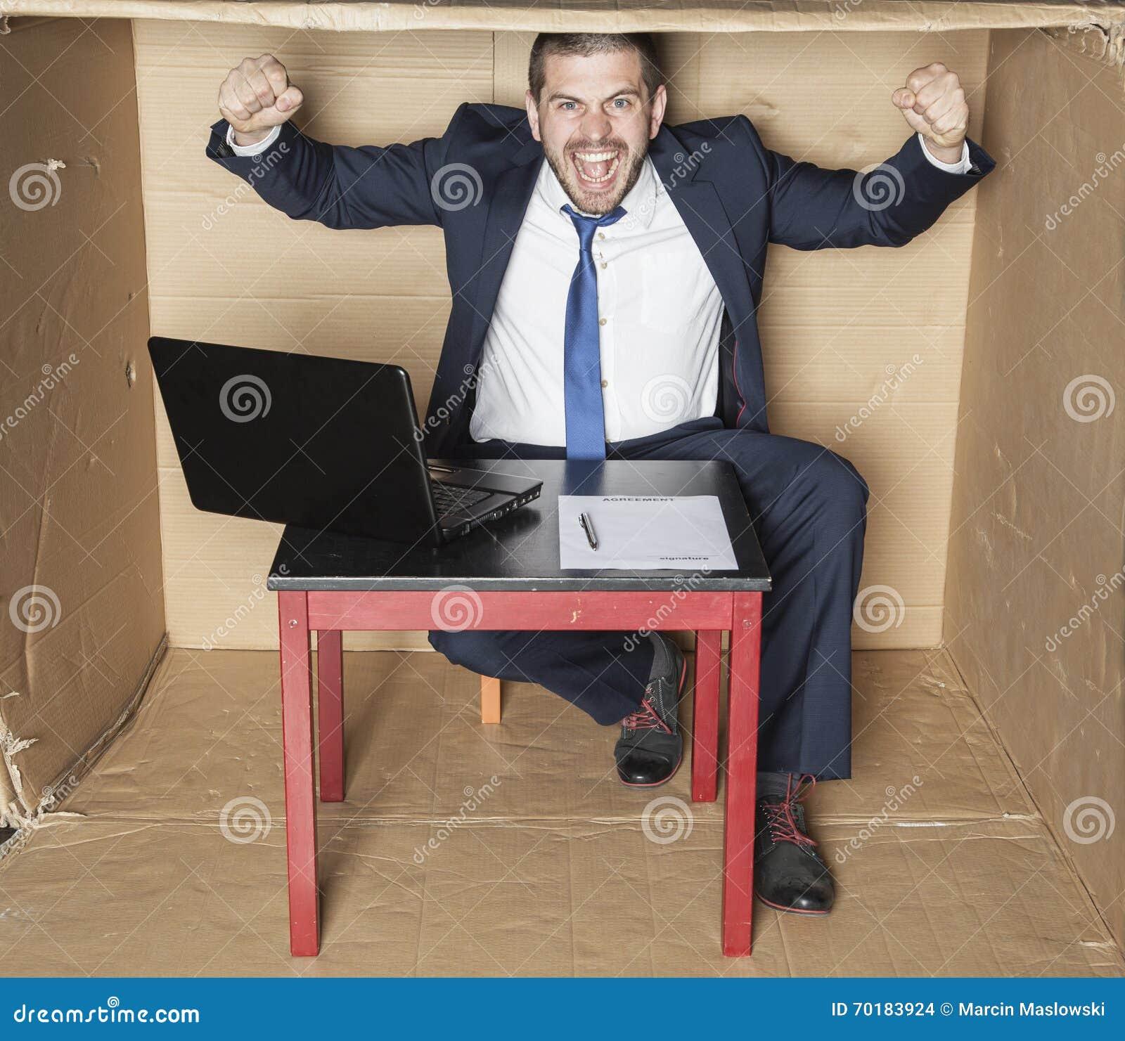 Affärsman i hans nya kabinett