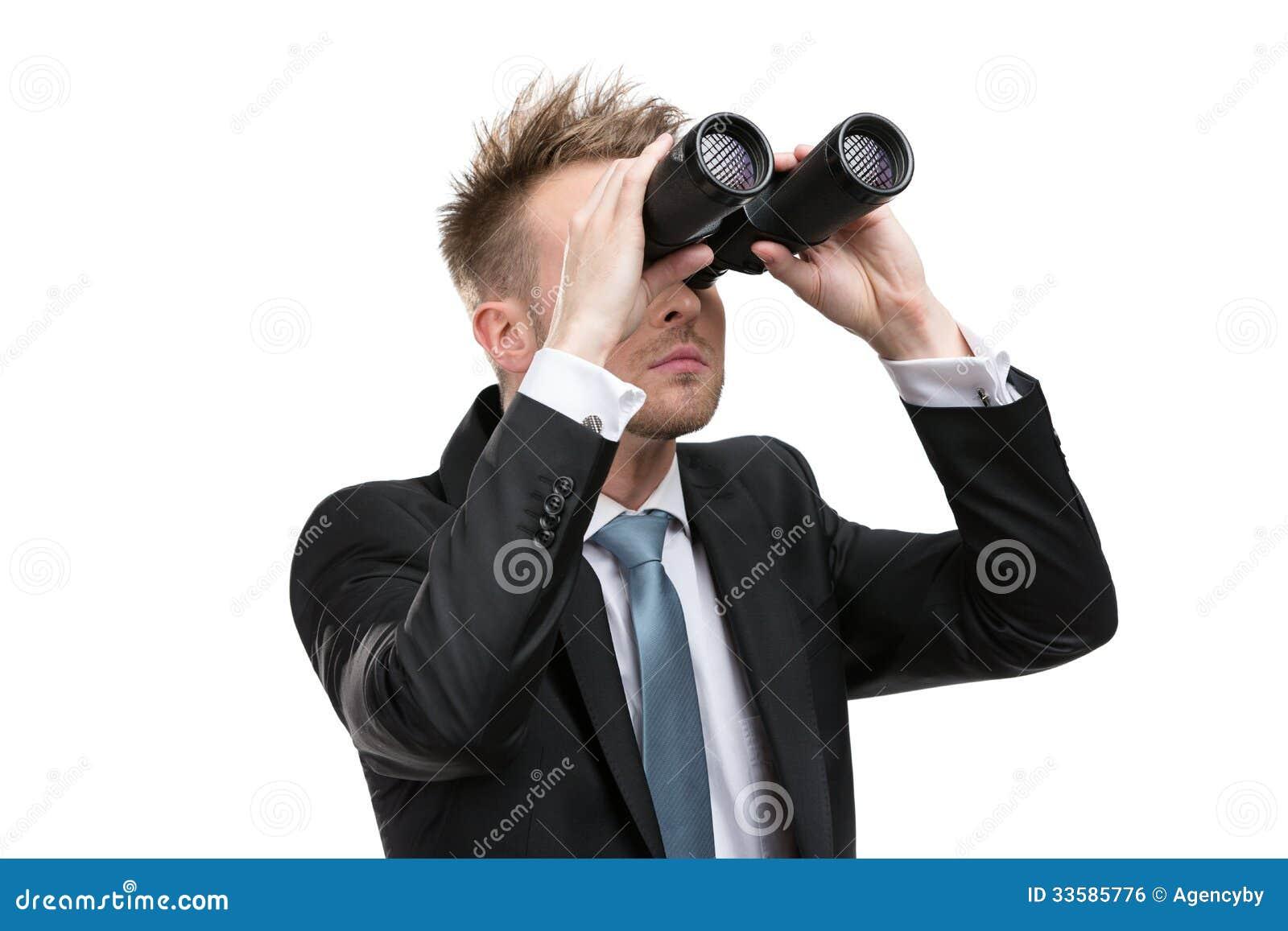 Affärsman med kikare