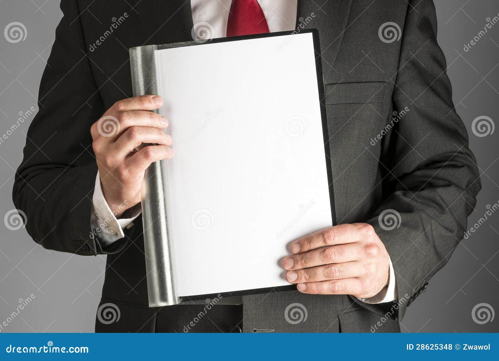 Affärsman med mappen