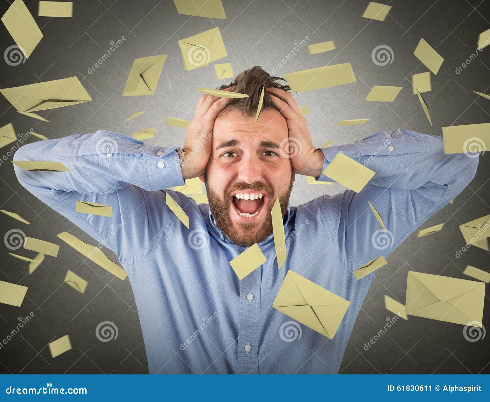 Affärsman- och emailskräppost