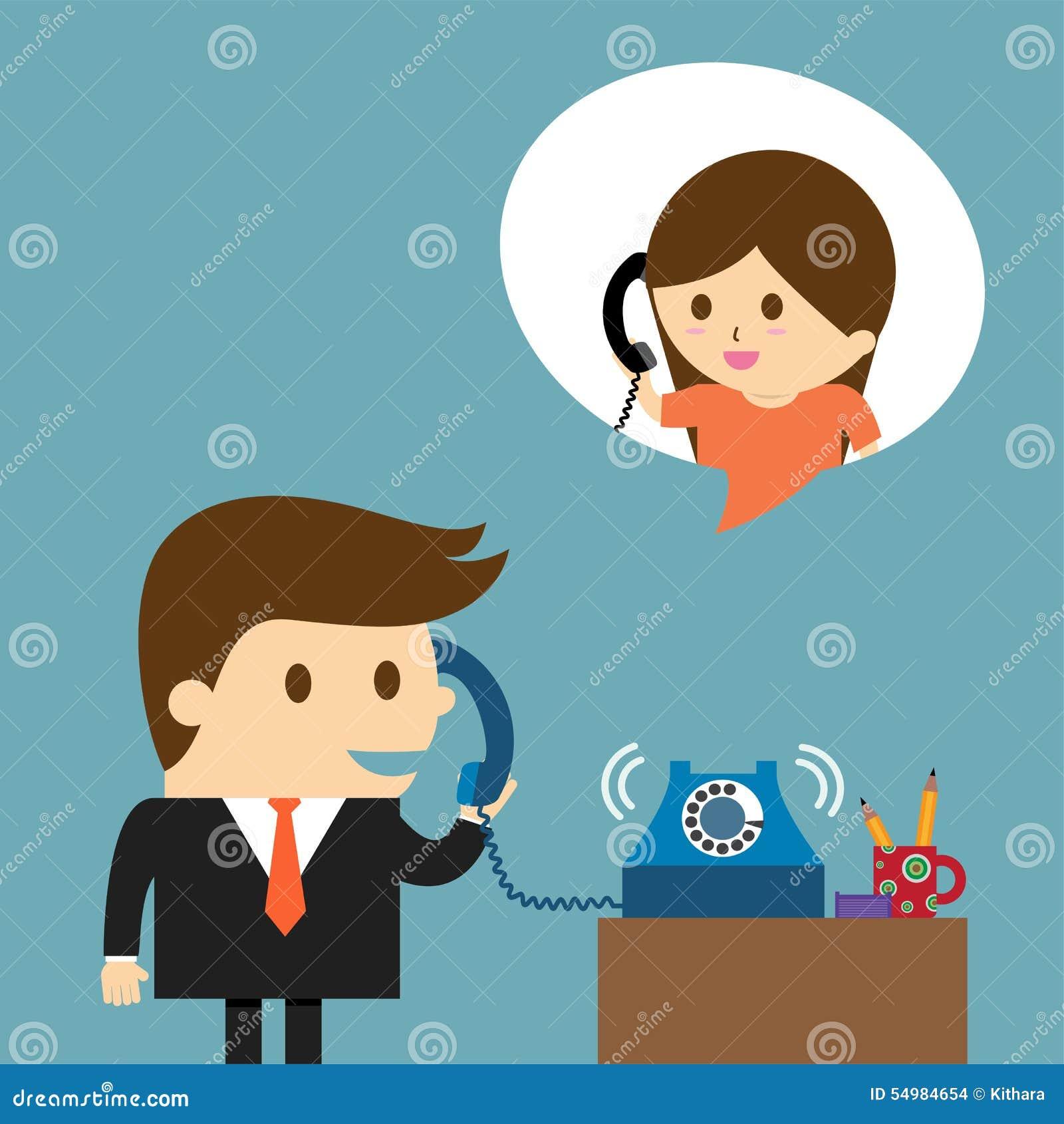 Affärsman som talar in i en telefon