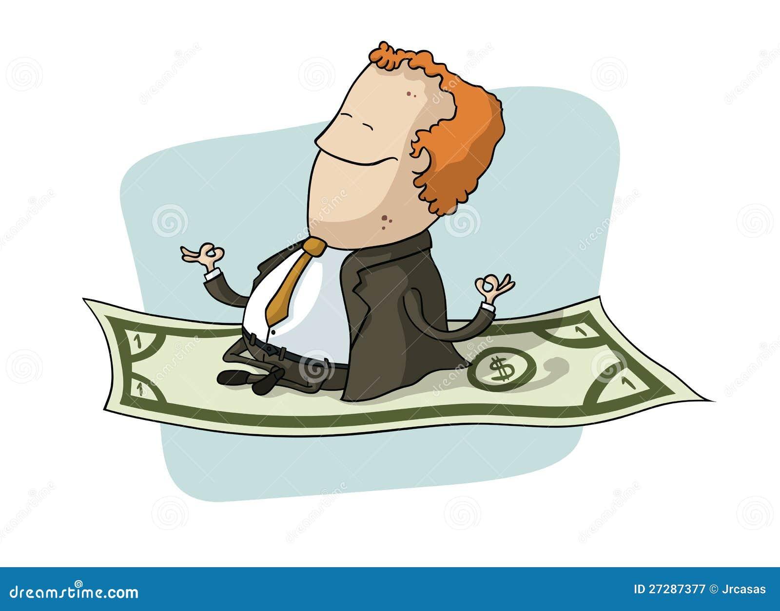 Affärsmanflyg på dollar